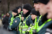 Around 200 police officers ensured safety during the march — Stock Photo