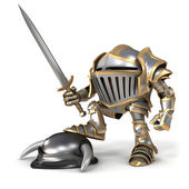 Knight conqueror — Stock Photo