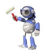 Robot z rolki — Zdjęcie stockowe