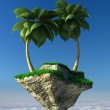 Flying island — Stock Photo #44491393