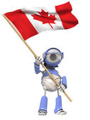 Robot with Canada flag — Stock Photo