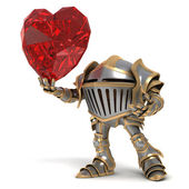 Knight fall in love — Stock Photo