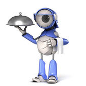 Robot waiter — Stock Photo