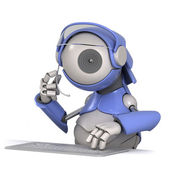 Robot customer service representative — Stock Photo