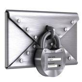 Steel envelope lock — Stock Photo