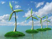ветротурбины — Стоковое фото