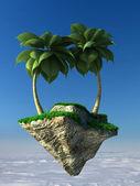 Flying island — Stock Photo