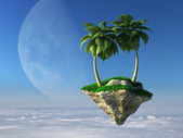 Flying island — Stock Photo