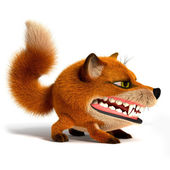 Evil Fox — Stock Photo