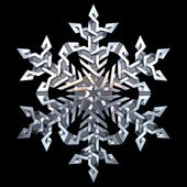 Celtic ornament - snowflake — Stock Photo