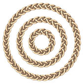 Celtic frame (circle) — Stock Photo
