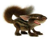 Evil squirrel — Stock Photo