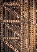Addossamento acciaio — Foto Stock