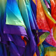 Tie dyed silk robes — Stock Photo