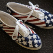 Patriotic Shoes — Stock Photo
