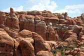Rock formations in Arches National Park — Stock Photo
