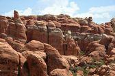 Formacje skalne w Parku Narodowego arches — Zdjęcie stockowe