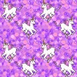Постер, плакат: Purple unicorn wallpaper