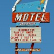 Stock Photo: Old motel sign