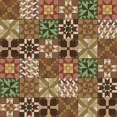 Antique quilt design — Stock Photo