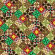 Stock Photo: Quilt pattern wallpaper variant