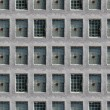 Seamless wall of windows - Stock Photo