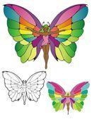 Butterfly fairy — Stock Vector