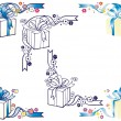 Gift box corner ornaments - Image vectorielle