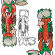 Royalty-Free Stock Imagen vectorial: Lobster corner element