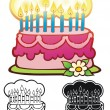 Royalty-Free Stock Imagem Vetorial: Birthday Cake