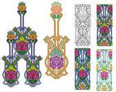Roses ornate — Stock Vector