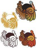 Art nouveau turkeys — Stock Vector