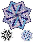 Eight squares emblem — Stock Vector
