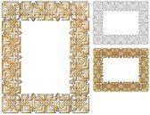 Golden woven border — Stock Vector