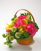 Bunch of the flowers in basket 03 — Stock Photo