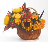 Bunch of the flowers in basket 06 — Stock Photo