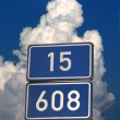 Number road signs — Stock Photo