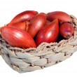 Stock Photo: Shallots in basket