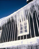 Icicles from the roof — Stock Photo