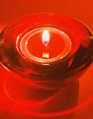 Red tea candle — Stock Photo