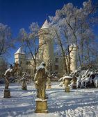 Konopiste castle in winter — Stock Photo