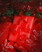 Parcels under christmas tree — Stock Photo