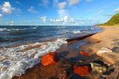 苏必利尔湖海滩 — 图库照片