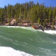 Stock Video: Yellowstone River Rapids