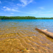 Wisconsin Northwoods Swimming Beach - Stock Photo