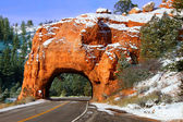 Dixie National Forest Rock Tunnel — Stock Photo