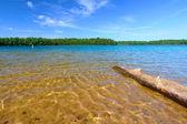 威斯康星州诺斯伍兹游泳海滩 — 图库照片