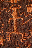 Petroglyph on Newspaper Rock — Foto Stock