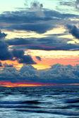 Sunset over Lake Superior Waves — Stock Photo