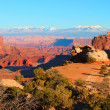 Stock Photo: Shafer Canyon Overlook Canyonlands